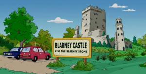 Les simpsons au Chateau de Blarney